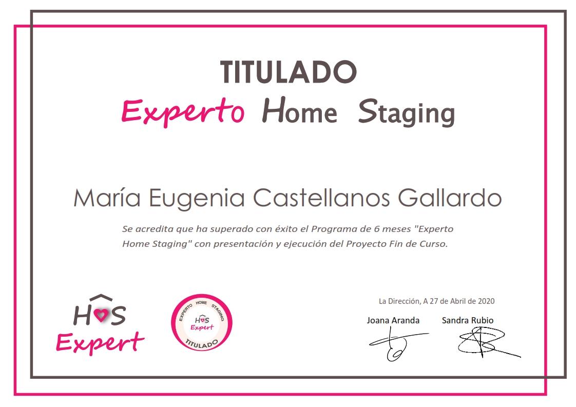 Certificado Experto Home Staging _Maria Eugenia Castellanos
